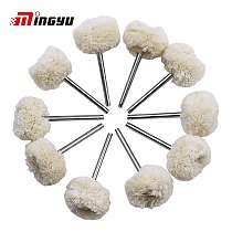 10pcs 3mm Shank Polishing Wool Brushes Drill Tool Rotary Grinding Wool Wheel Brush Dremel Grinding Buffing Accessories