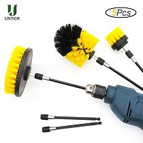 UNTIOR 5Pcs Electric Drill Brush Scrub Pads Grout Power Drills Scrubber Cleaning Brush Kitchen Bathroom Cleaner Tools Kit