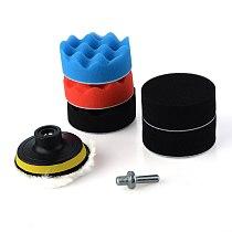 8Pcs/Set 3inch Polishing Buffing Pad Sponge Kit Car brush Polisher W/ M10 Thread Adapter Car Wash Auto Detailing Cleaning Car
