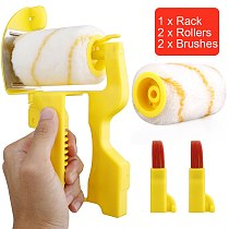Portable Paint Edger Roller Brush Paint Edge Banding Machine Tool For Home Room Wall Ceilings Narrow Space Replacable Brush