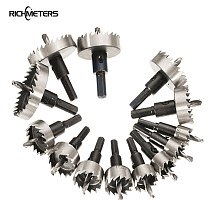 13PCS Hole Saw Set Metalworking Center Drill HSS Serrated Hole Opener Iron Plate Punched 16-53mm