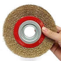Wire Brush Wheel 125mm Quality Round Brass Plated Steel Wire Brush Wheel For Bench Grinder Tool Parts