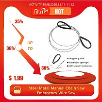 Steel Metal Manual Chain Saw Wire Saw Scroll Outdoor Emergency Travel Outdoor Camping Survival Tools