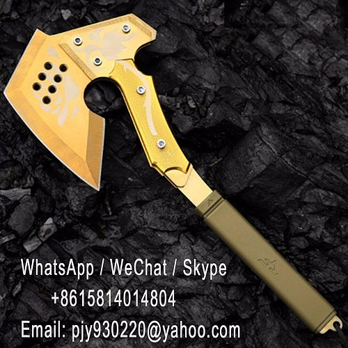 Factory wholesale CF crossing fire line camping axe,golden rose battle ax,hand axe the fifth generation outdoor camp engineer ax