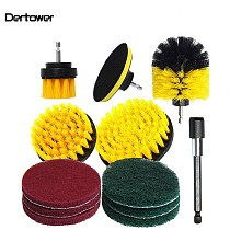 12Pcs Electric Drill Brush Scrub Pads Grout Power Drills Scrubber Cleaning Brush Tub Cleaner Tools Kit Bathroom Toilet Cleaning