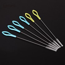 5/10/20pcs Set Fish Tank Pipe Brush with Color Handle Bottle Suction Tube Glass Tube Spiral Soft Hair Straw Cleaning Brushes