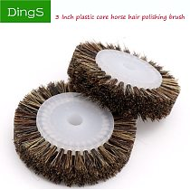 1pcs 80mm Grinding Wheel Horse Hair Brush Woodworking Durable Bench Grinder For Wood Jade Jewelry Polishing Abrasive Tools