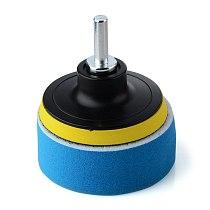 19 Pcs 3  Sponge Buff Polishing Pad Set For Car Polisher & Waxing M10 Drill Adapter