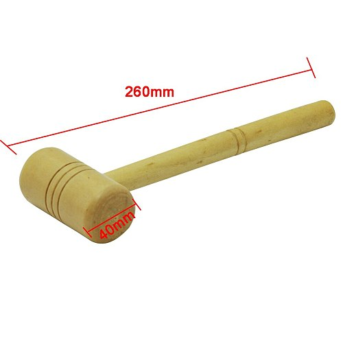 Head Dia 40mm Wooden Hammer Jewelers Silversmith Tool Wooden Handle Jeweller Hammer Jewelry Making Tools Length 260mm