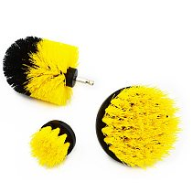 GOXAWEE 3pcs Power Scrubber Clean Brushes For Electric Screwdriver Drill Carpet Glass Car Tub Tires Nylon Brushes Polishing Tool