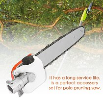 Chainsaw Gear Gearbox + Guide Plate + Chain Chain Saw Set Pole Pruning Saw Woodworking Tool Pole Saw Trimmer