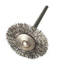 10 pcs Stainless Steel Wire Brushes Disc Brush Round Brush 25mm Diameter for Dremel