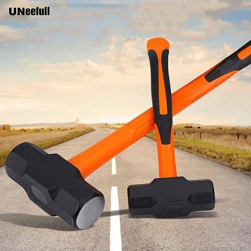 UNeeful 8LB professional octagon plastic handle Sledge hammer,Heavy-duty carbon steel hammer, engineering geological hammer