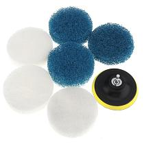 7pcs/lot 100mm Replaceable Drill Brush Scrub Pads Scouring Pad Power Tools for Bathtubs Tile Bathroom Kitchen Drill Cleaning