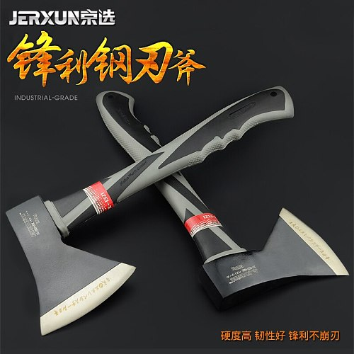 JERXUN Woodworking Axe Household Felling Hatchet Outdoor Camping Gardening Tools Woodworking Axe Fire Control Axe Tools