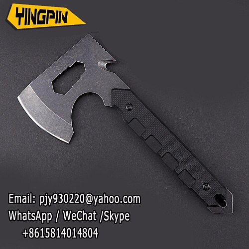 Direct selling High Quality Wooden Handle Axe Outdoor Hunting Camping Survival Machete Axes Hand Tool Practical   Axe.