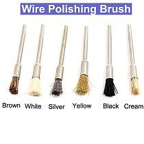 URANN 6pcs 2.35mm Wire Brushes Metal Brush Rust Removing Brush Polishing brush For Dremel Rotary Grinder Tool