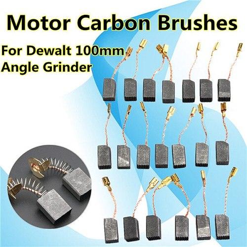 20 Pcs Motor Carbon Brushes 13.6 x 7.8 x 6.1mm for Dewalt 100mm Angle Grinder