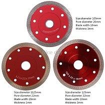 Red Hot Pressed Sintered Mesh Turbo Ceramic Tile Granite Marble Diamond Saw Blade Cutting Disc Wheel Bore Tools  F14 20 Dropship