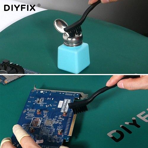 DIYFIX 17cm Anti Static Dust Brush Hard Cleaning Brush for BGA SMT PCB Board Rework Repair Tool