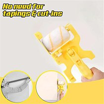 Portable Paint Edger Roller Brush Paint Edge Banding Machine Tool  for Home Room Wall Ceilings Replacable Brush For Narrow Space
