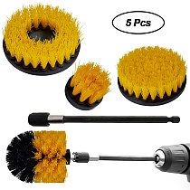 Power Scrubber Brush Electric Drill Brush Set Car Rim Brushes Tire Wheel Clean Brushes with Extender For Tub Tile Surfaces Washi