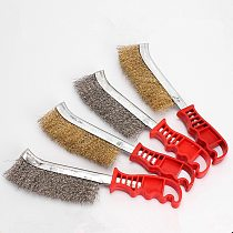 Multifunction Knife-shape Brush Stainless Steel Wire Copper Coating Cleaning Polishing Brush for Removing Rust Deburring