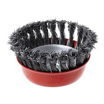 1PC Stainless Steel Wire Polishing Bowl Brush with 14MM Hole Twisted Wire Shape Wheel for Polished Derusting Tools with Nut M14