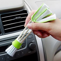 2 PCS/ Pack Mini Duster Air Vent Blinds Cleaning Brush Dust Brush Duster Car Interior Car Air Outlets Cleaning Tools