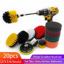 20Pcs/Set Drill brush power scrubber Brush Cleaning Kit Bathroom Surfaces Tub, Shower, Tile and Grout , Drill Attachment Kit