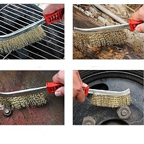 Multifunction cleaning brush Plastic handle Copper Wire brush for metal rust removal Polish bbq cleaner household cleaning tool