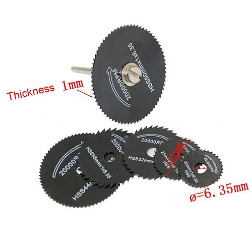 7 Pcs/ Set 3.2mm HSS Circular Saw Blade Cutting Disc Cut-Off Wheel For Rotary Tools Sets JA55