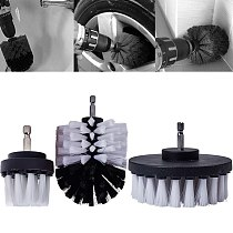3/4/5Pcs Drill Power Scrub Clean Brush For Leather Plastic Wooden Furniture Car Interiors Cleaning Power Scrub 2/3.5/4/5inch