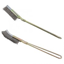 Professional Bonsai Wire Brush Curved / Straight Head Steel Soft Garden Cleaning Tool