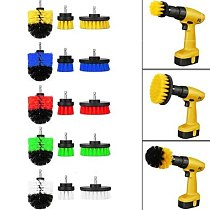 3Pcs / Set Powerful Drill Cleaning  For Leather Plastic Wood Furniture Car Cleaning Power Scrub 2/3. 5/4 inches