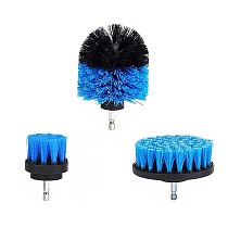 ALLSOME 3Pcs 2/3.5/4 Inch Blue Drill Brush Tile Grout Power Scrubber Tub Cleaning Brush for Electric Drill HT1848