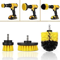 3Pcs Round Full Electric Bristle Drill Brush Rotary Cleaning Tool Set Scrubber (Drill not included)