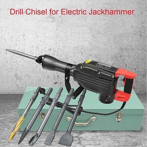 Drill Chisel For Electric Demolition Hammer Concrete Breaker Jackhammer 95/65 thread/U-type/75mm flat/ordinary flat/sharp-chisel