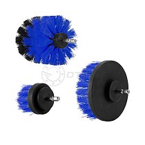 3Pcs 2/3.5/4 Inch Blue Drill Brush Tile Grout Power Scrubber Tub Cleaning Brush for Electric Drill Power Scrub Cleaning Kit