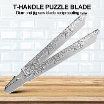 T Shank Jigsaw Blades Diamond Coated Jig Saw Blade Granite Tile Cutting Tool Suitable for Granite and Marble Quartzite