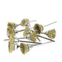 10pcs Mini Wire Brush Brushes Brass Cup Wheel for Grinder or Drill 3mmx18mm N02 19 Dropship
