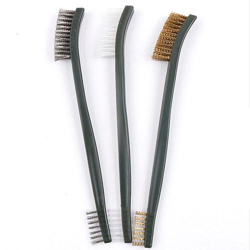 3pcs Wire Brush Set Cleaning Brush Tools Steel Metal Brass Nylon Cleaning Polishing Rust Brush Metal Cleaning Brush Tools Gadget