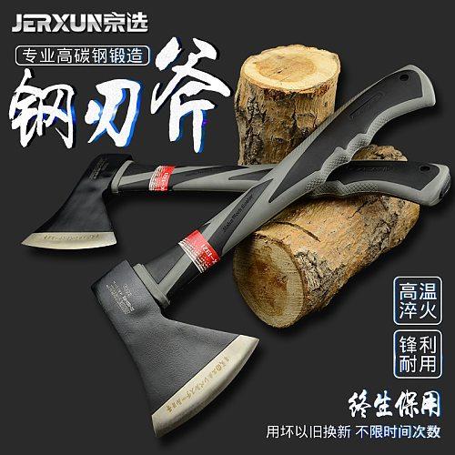 JERXUN Woodworking Axe Household Felling Hatchet Outdoor Camping Gardening Tools Woodworking Axe Fire Control Axe Tools
