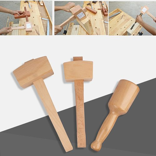 80-130mm Solid Small BeechWood Hammer Carpenter Mallet For DIY Knock Woodworking Household Multi Hand installation Tool