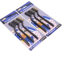 3PCS/Set Steel Wire Brush Brass Nylon wire Polish Metal Rust Cleaning Brush Tool Home Kitchen Kit