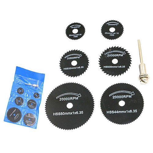 7 Pcs/ Set 3.2mm HSS Circular Saw Blade Cutting Disc Cut-Off Wheel For Rotary Tools Sets --M25