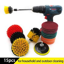 15Pcs Drill brush power scrubber Brush Cleaning attachment Kit with Extender for Bathroom Surfaces Tub, Shower, Tile and Car