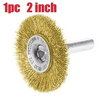 1Pc Durable Crimped Carbon Steel Wire Brush 2 inch Cutting Rotary Brush Wire Brushes for Grinder Rotary Tool for Drill Polishing