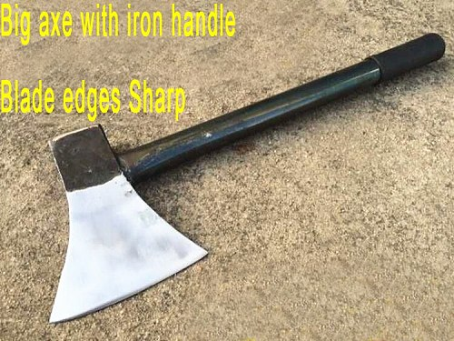 Manual forging iron handles, powerful firewood axes,camping hatchet axe
