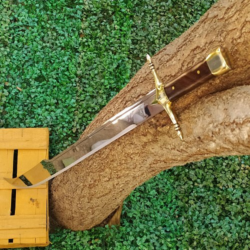 Handmade Forged Steel Yatagan Sword Knife, Walnut Handle, Yellow Rice Processing , 4mm, Blade, Saber,Personalized Design, Gift